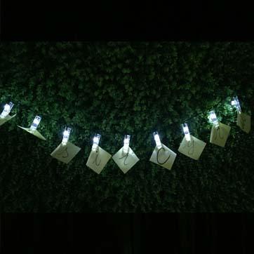 Llum de cadena de nombre solar