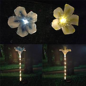 llum de decoració de fibra òptica de flors