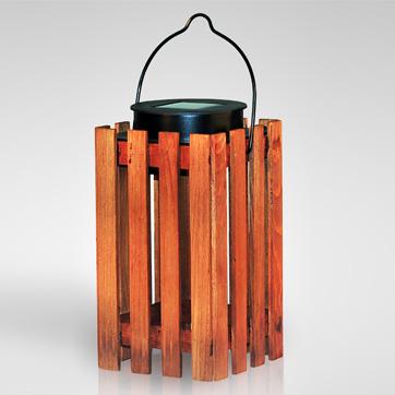 llanterna solar de fusta de llum