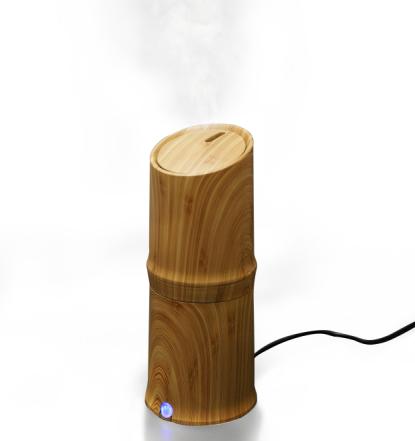 300ml Cool Mist Humidifier Ultrasonic Aroma Difusor d'oli essencial per a l'oficina Home Dormitori Estudi de la sala Yoga Spa - Gra de fusta